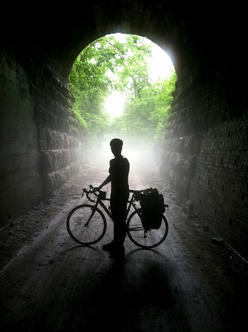 Badger State Trail tunnel.